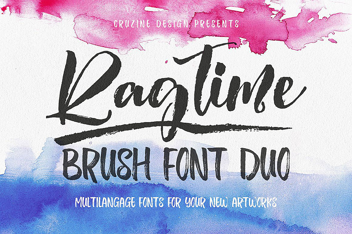 Ragtime - Brush Font Duo example image 1