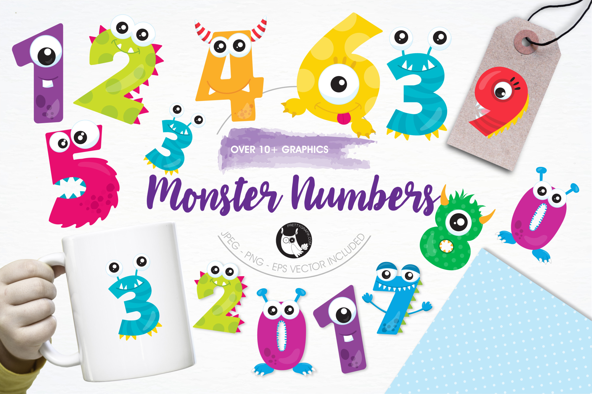Monster Numbers graphics and illustrations example image 1