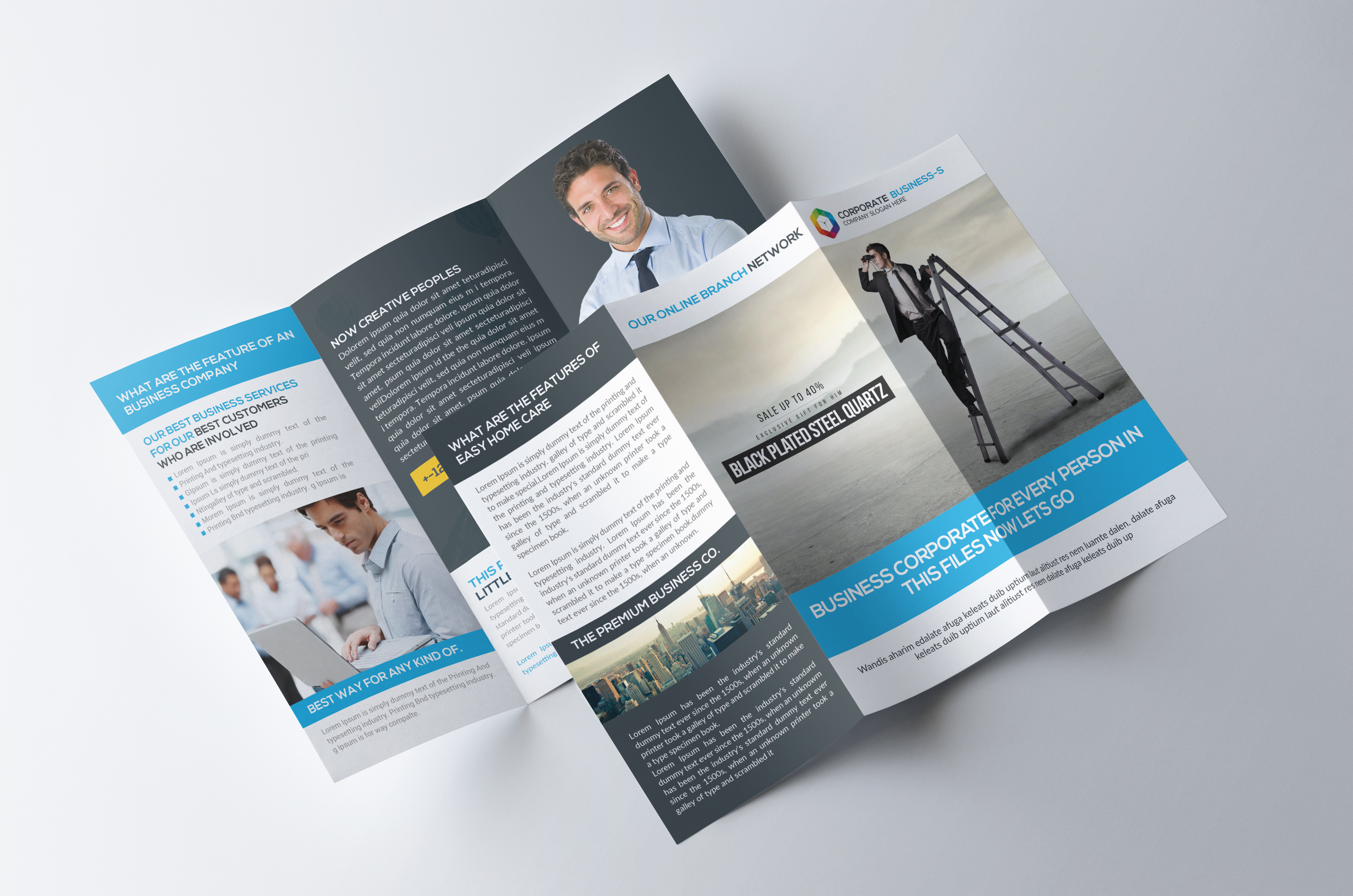 Trifold Company Psd example image 3
