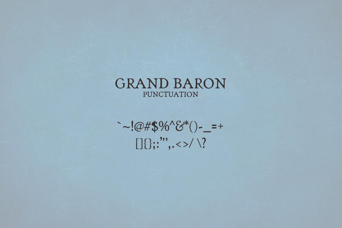 Grand Baron - A Vintage Typeface & Bonus example image 4