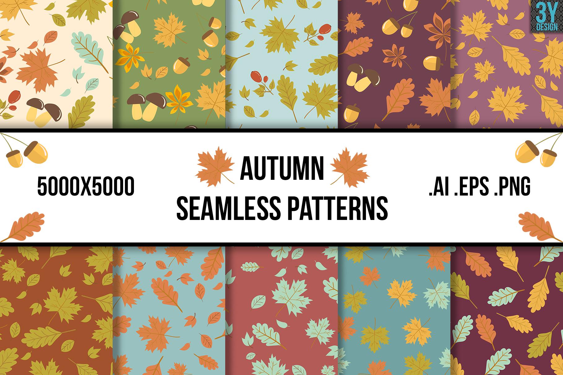 Autumn Seamless Patterns example image 1