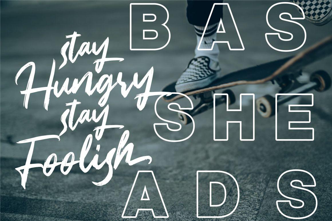Bassheads - Handbrush Font example image 3