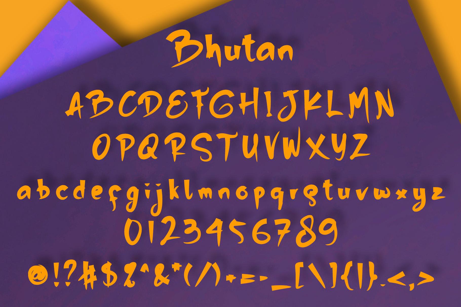 Bhutan   Display Font example image 5
