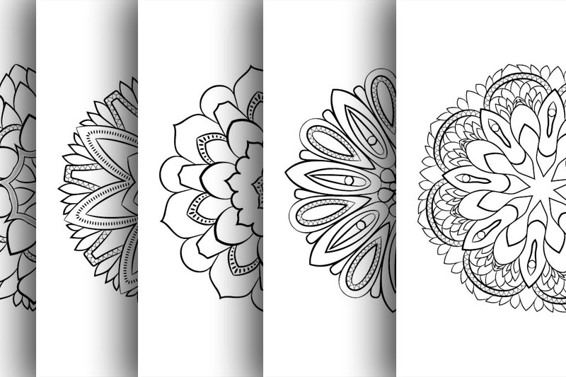 Coloring with 50 floral mandalas. Part two. example image 6