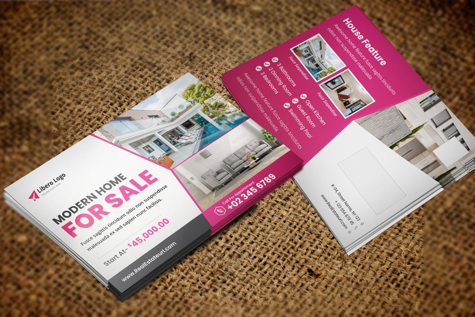 Real Estate Postcard Design v2 example image 4