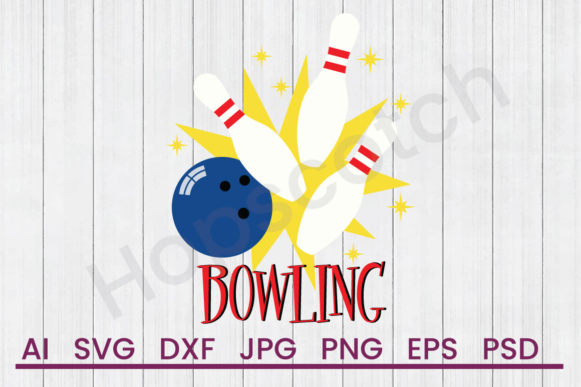 Bowling Pins SVG, Bowling SVG, DXF File, Cuttatable File example image 1
