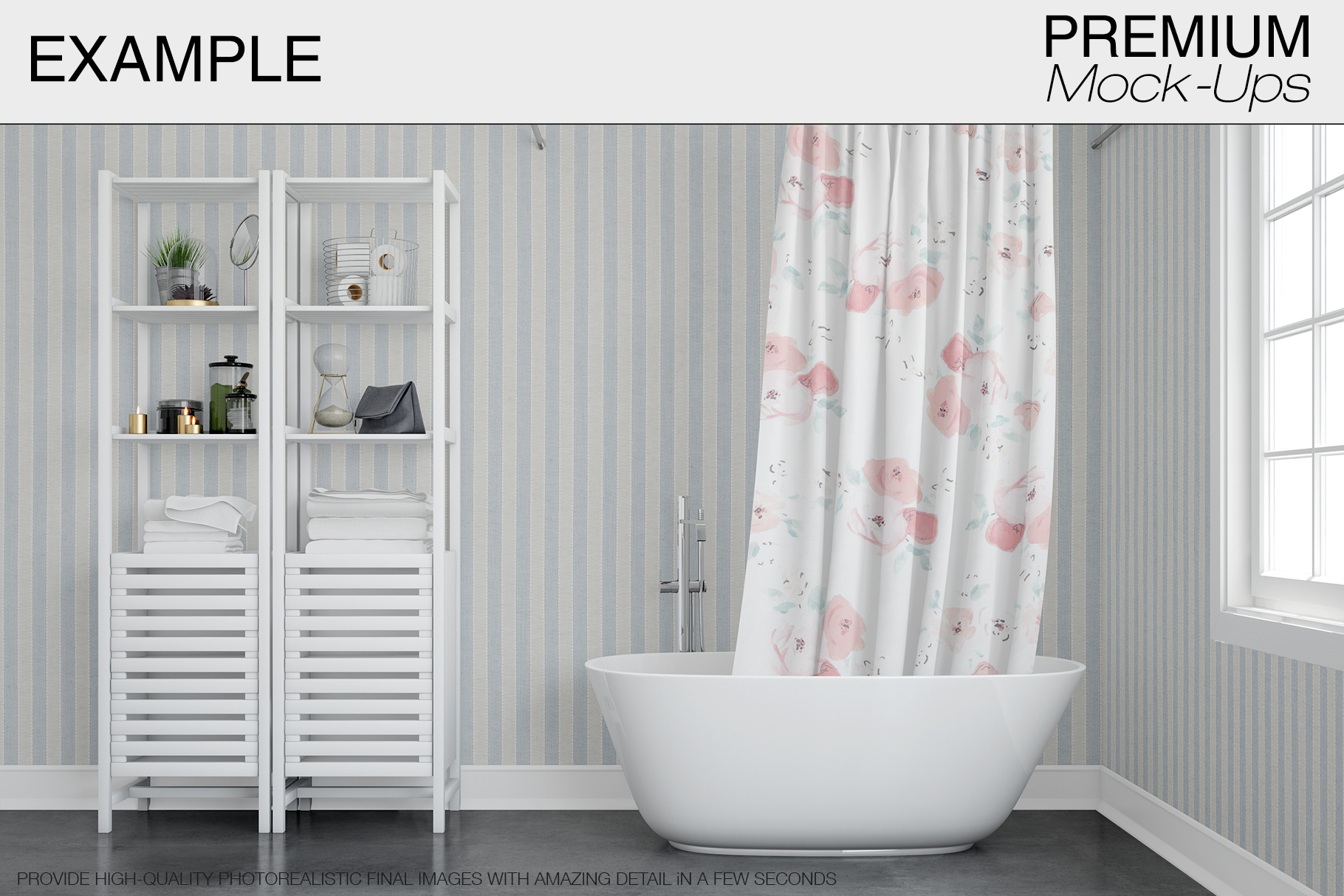 Bath Curtain Mockup Pack example image 6