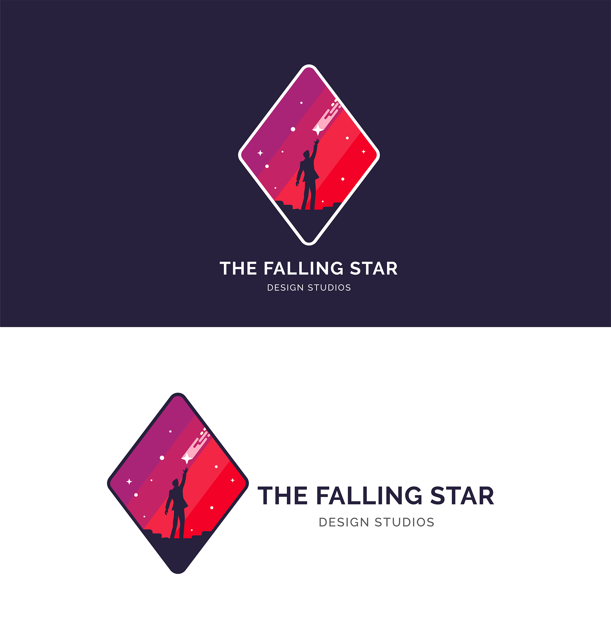 Men Catch a Falling Star Logo example image 6