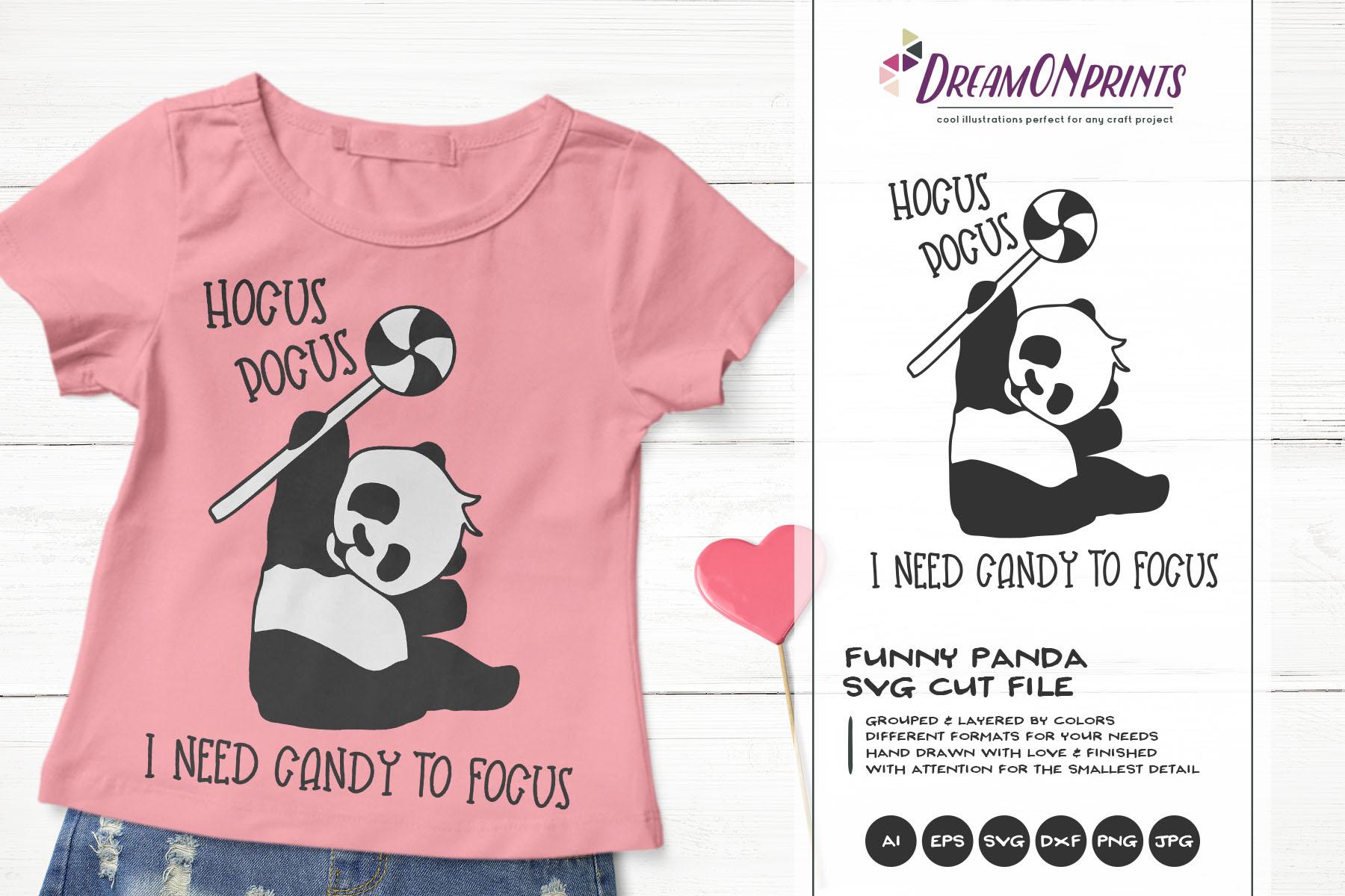 Fun Panda Bear SVG   Funny Halloween SVG   Hocus Pocus example image 1