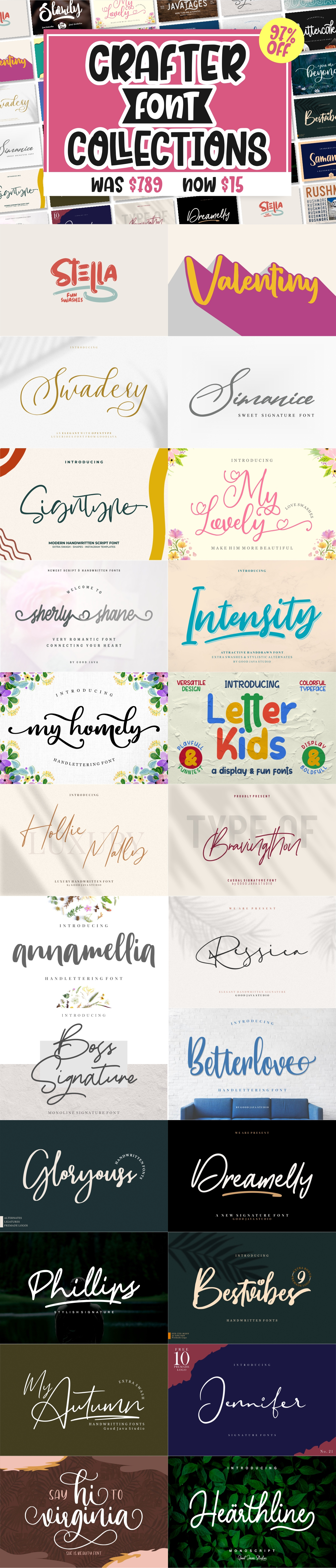 BEST CRAFTER FONT COLLECTIONS example image 4