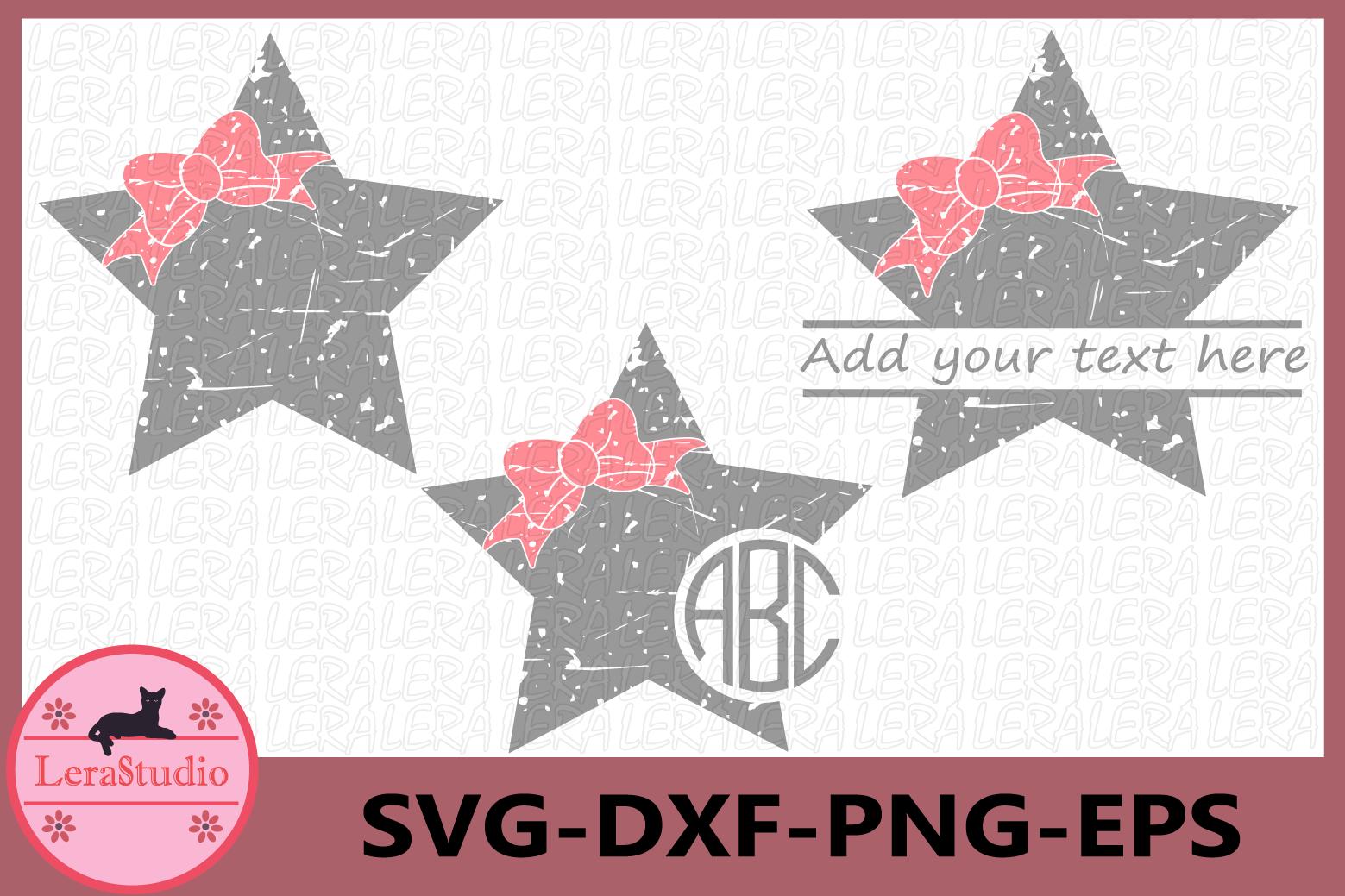Stars Svg, Star Grunge SVG, Stars Monogram svg, Silhouette example image 1