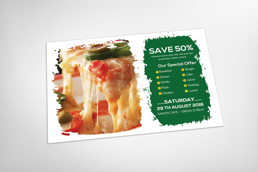 Dominos Post Card Template example image 3