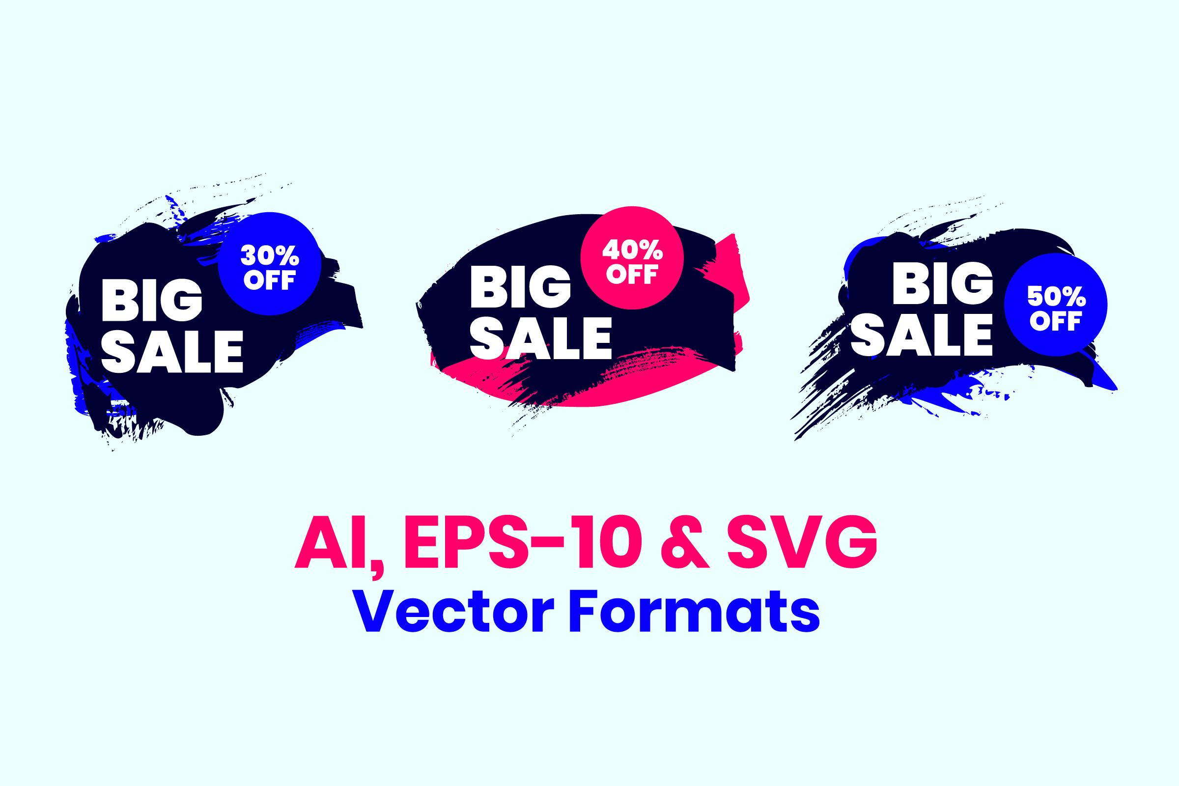 Modern Grunge Sale Price Marketing Graphics example image 4