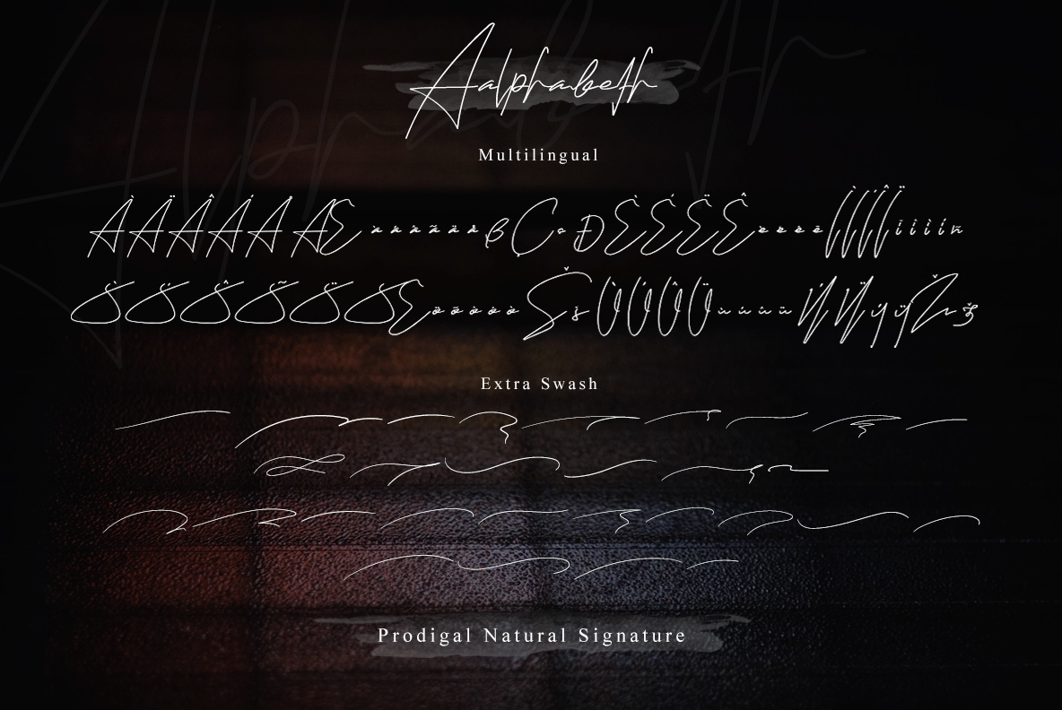 Prodigal Natural signature & Extra swash example image 20