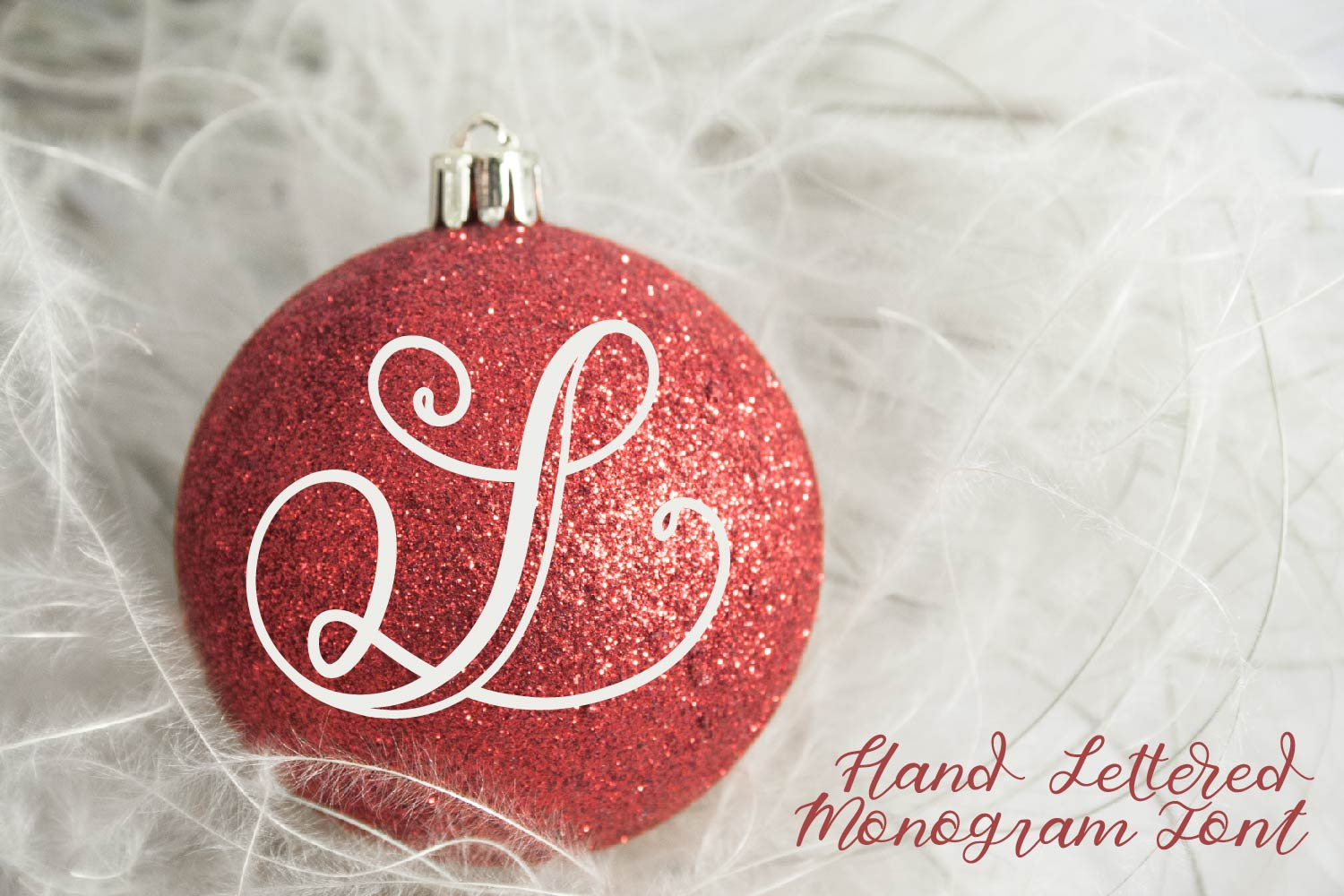Hand Lettered Monogram Font - Perfect For Personalization! example image 2
