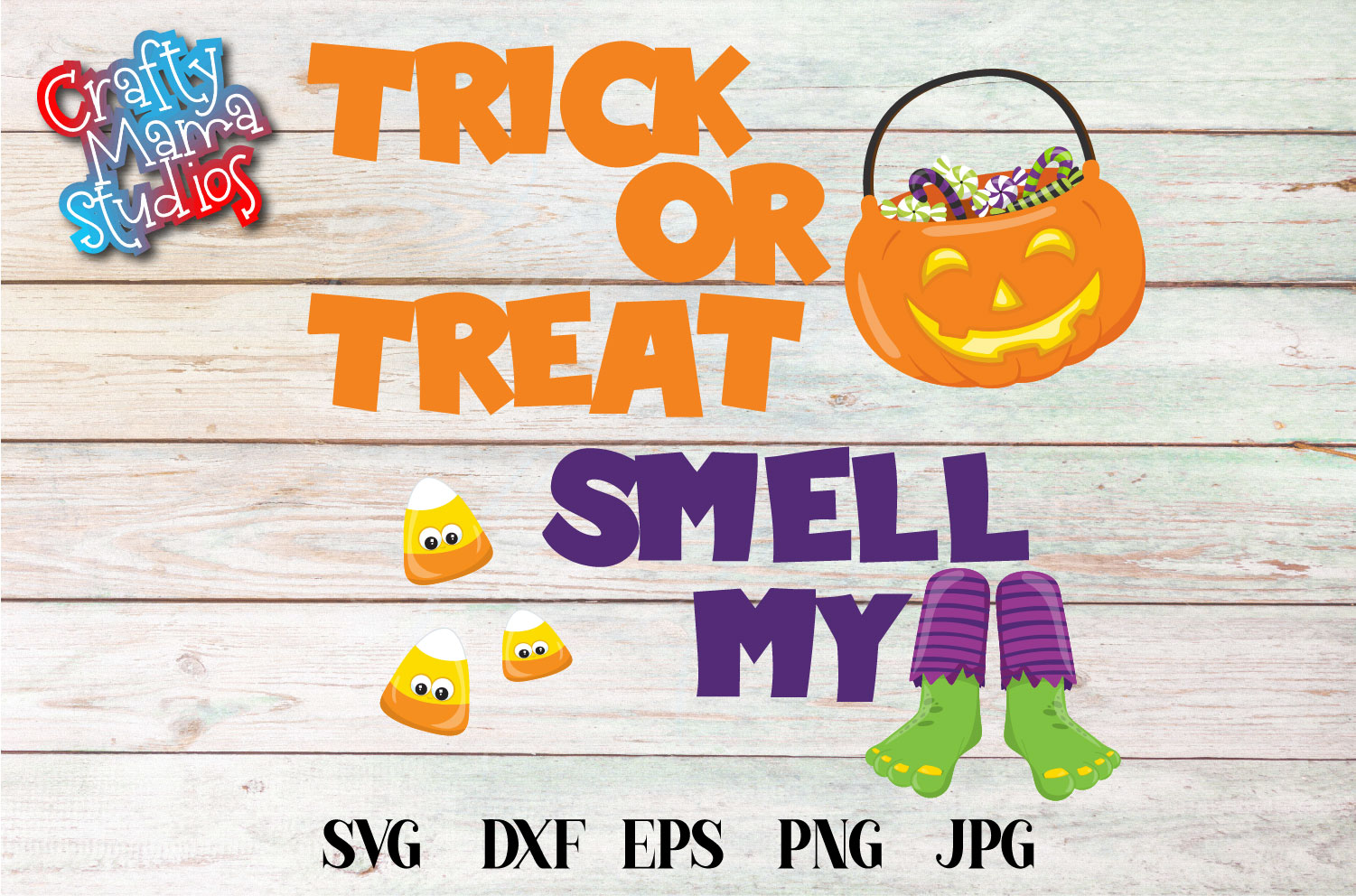 Trick Or Treat Smell My Feet SVG Sublimation, Halloween SVG example image 2