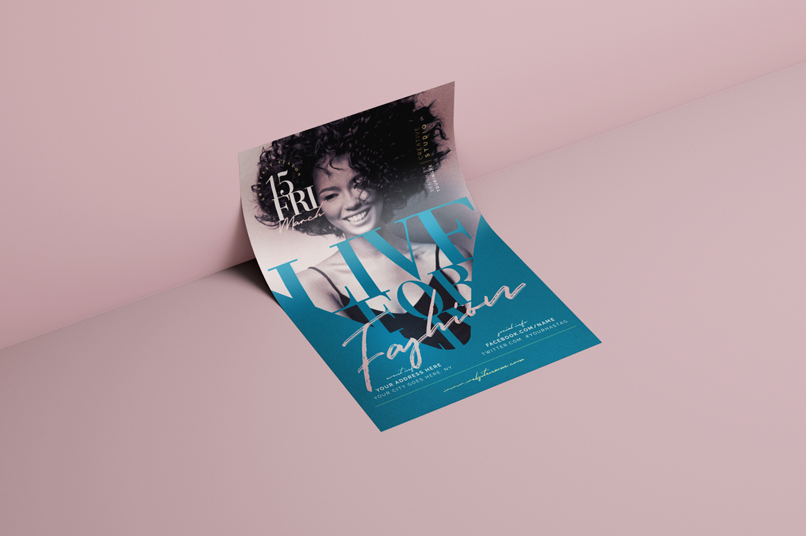 Live For Fashion Flyer Template example image 3