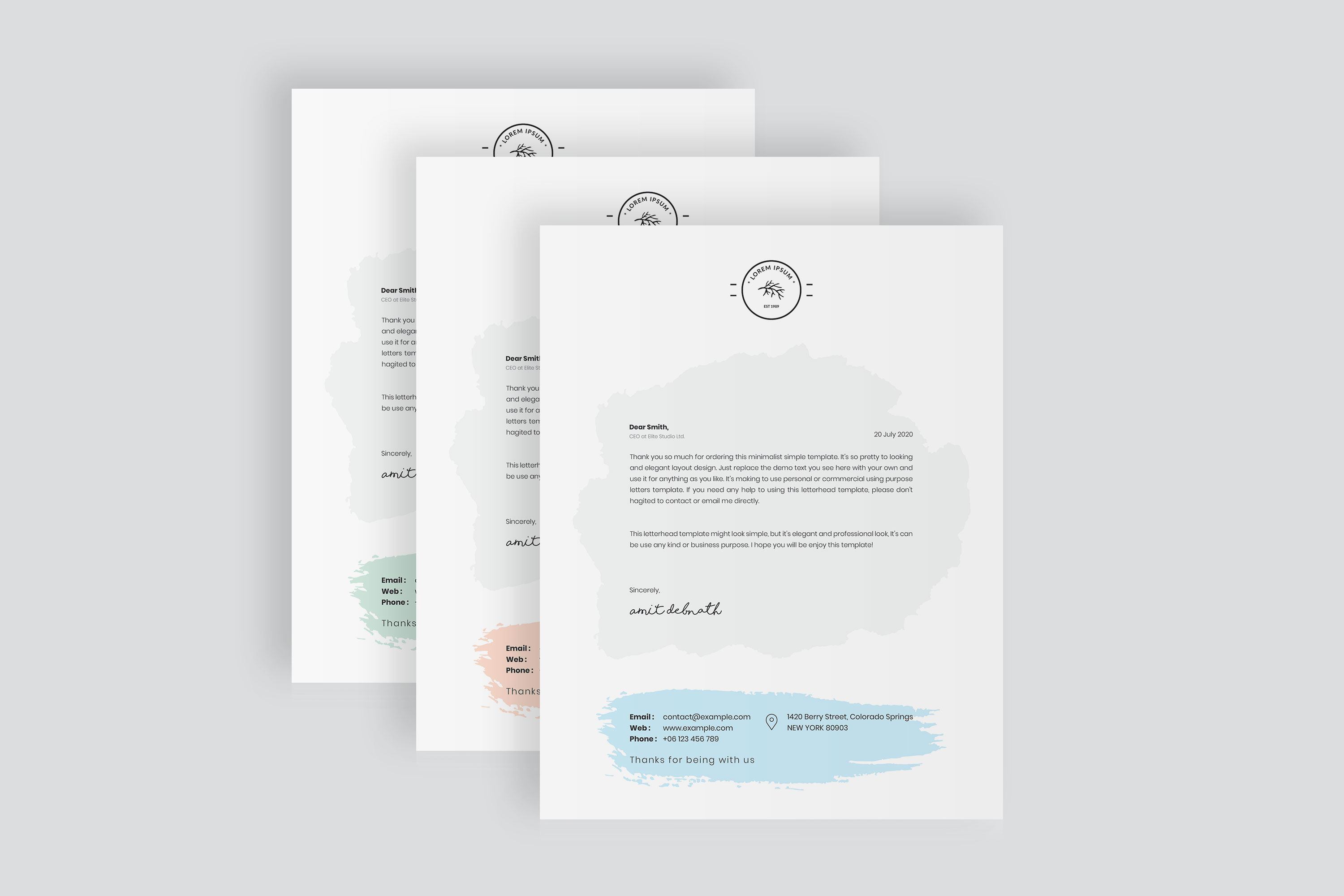 Modern Letterhead Template example image 6