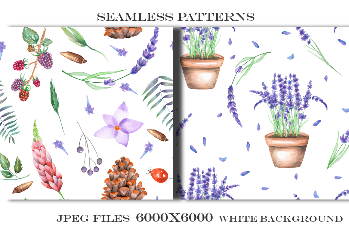 Forest and lavender Patterns example image 3