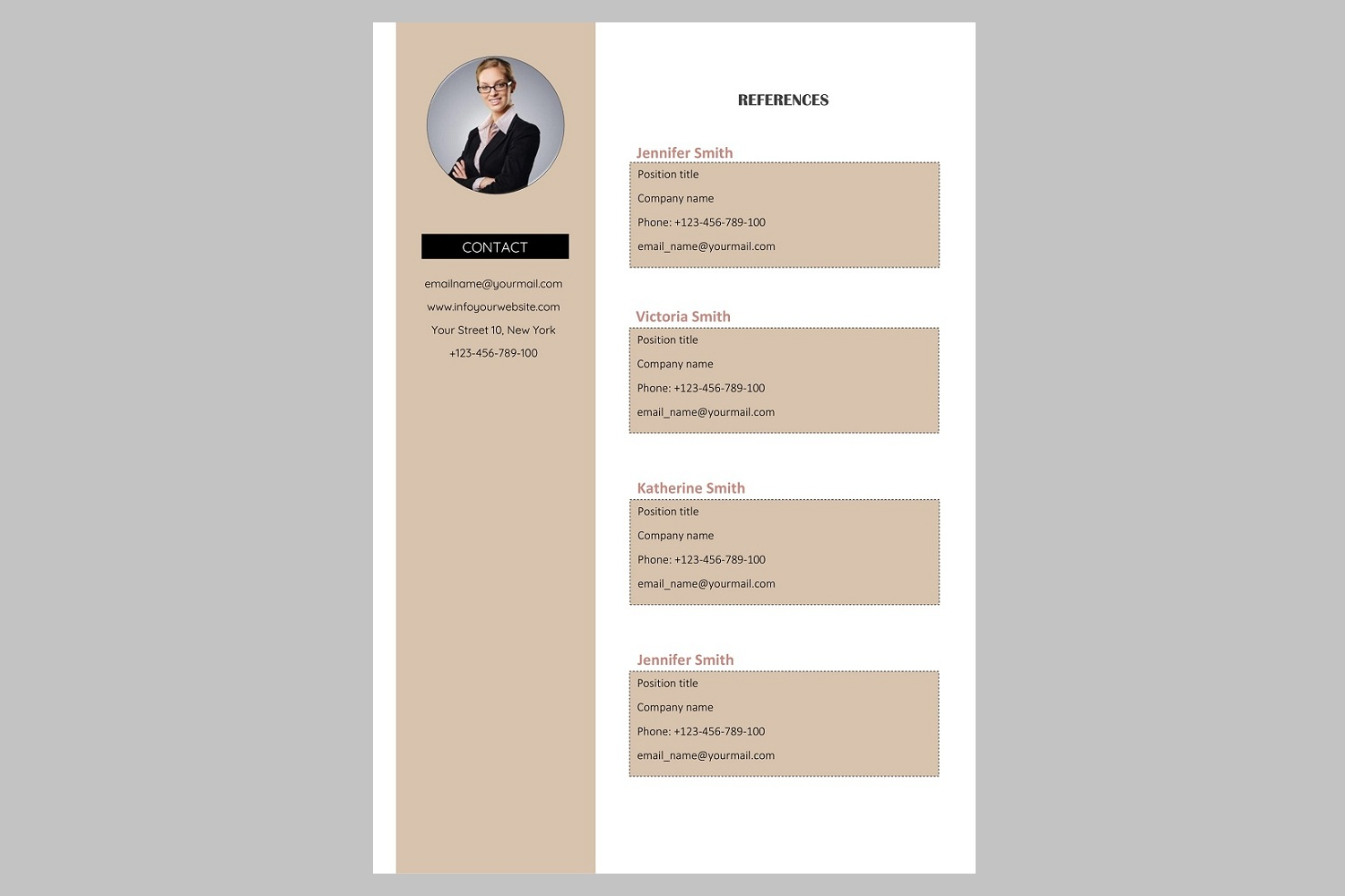 Creative resume template / CV. Bundle offer example image 5
