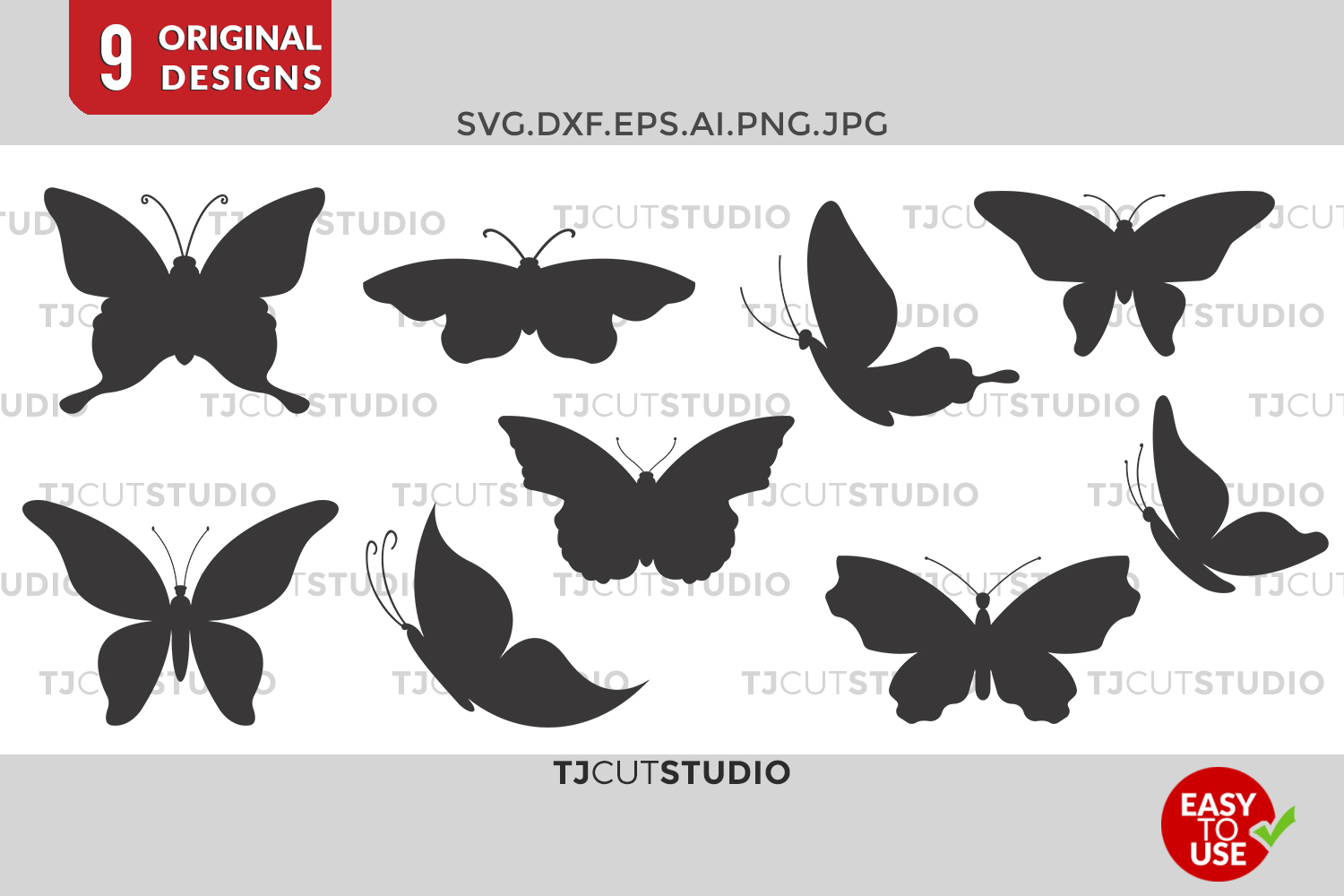 Butterfly Svg, Butterfly Monogram, Butterflies SVG, Svg Files for Silhouette Cameo or Cricut Commercial & Personal Use. example image 1