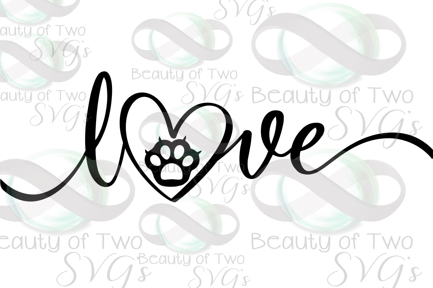 Cat Love svg, love my cat svg, rescue cat svg, cat loss svg example image 2