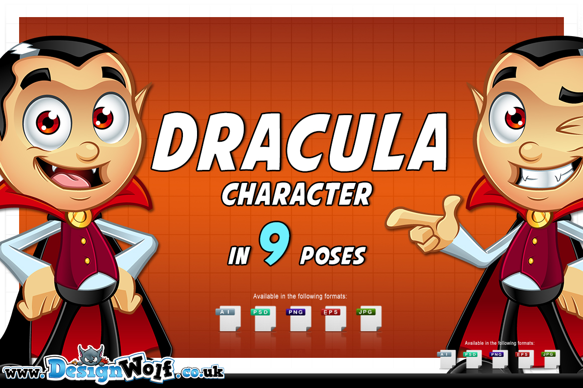 Dracula Character - In 9 Poses example image 2