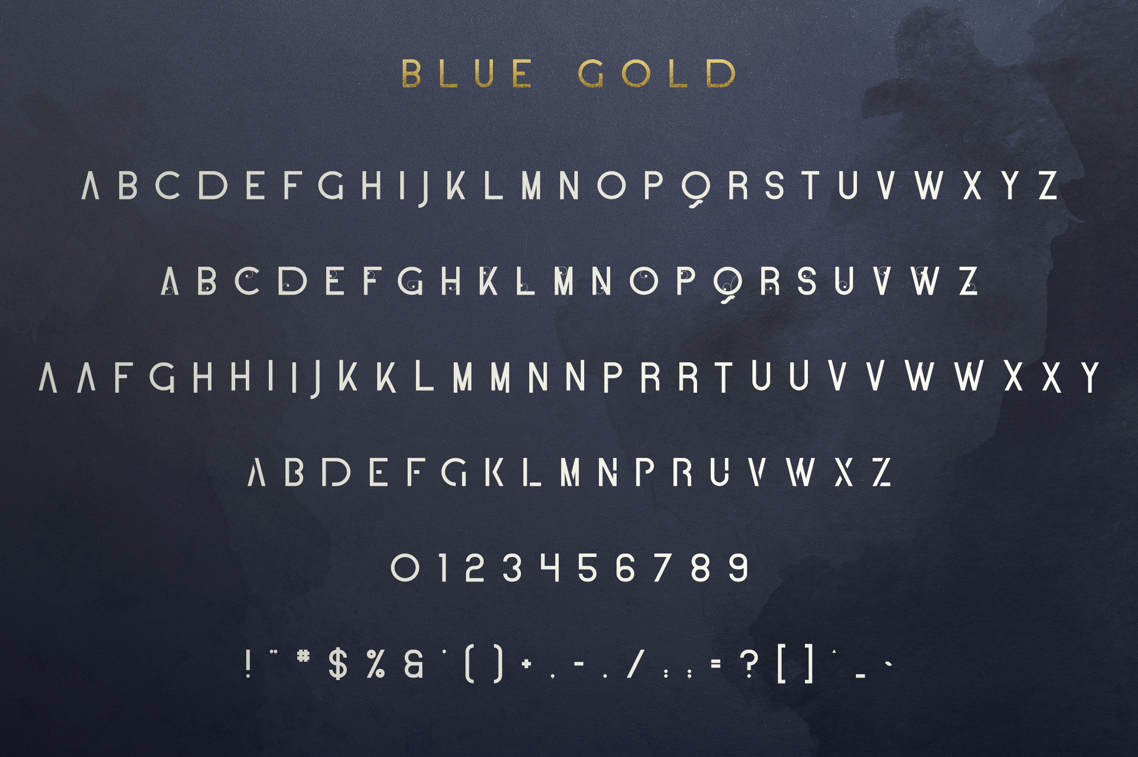 Blue Gold sans serif font Extras example image 8