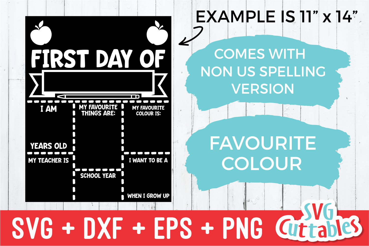 First Day of School Apple| SVG Cut File example image 2
