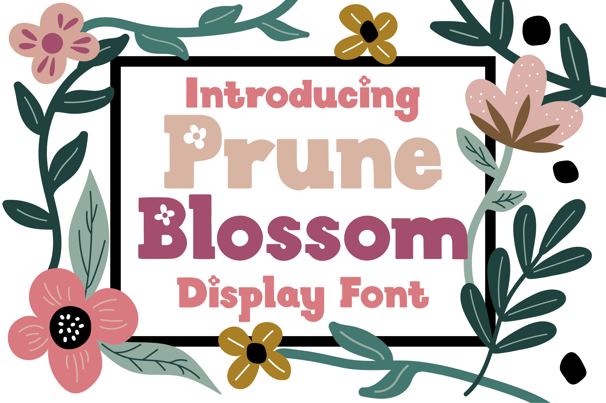Prune Blossom Font example image 1