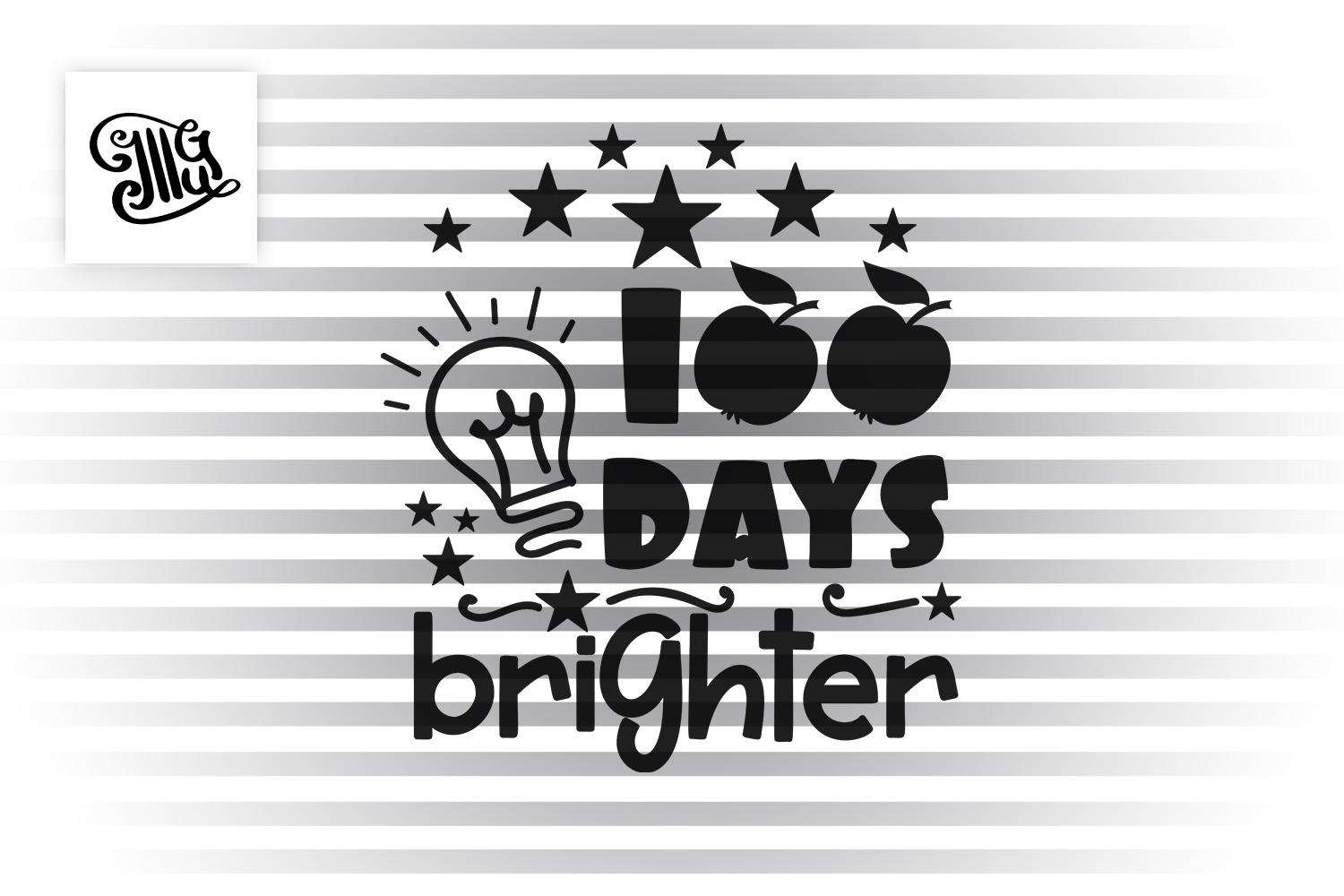 100 days brighter svg example image 2