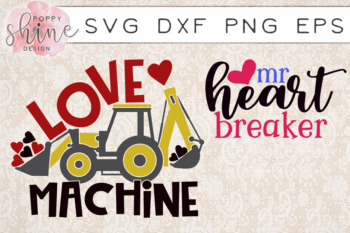 Valentine's Day Bundle of 11 SVG PNG EPS DXF Cutting Files example image 5