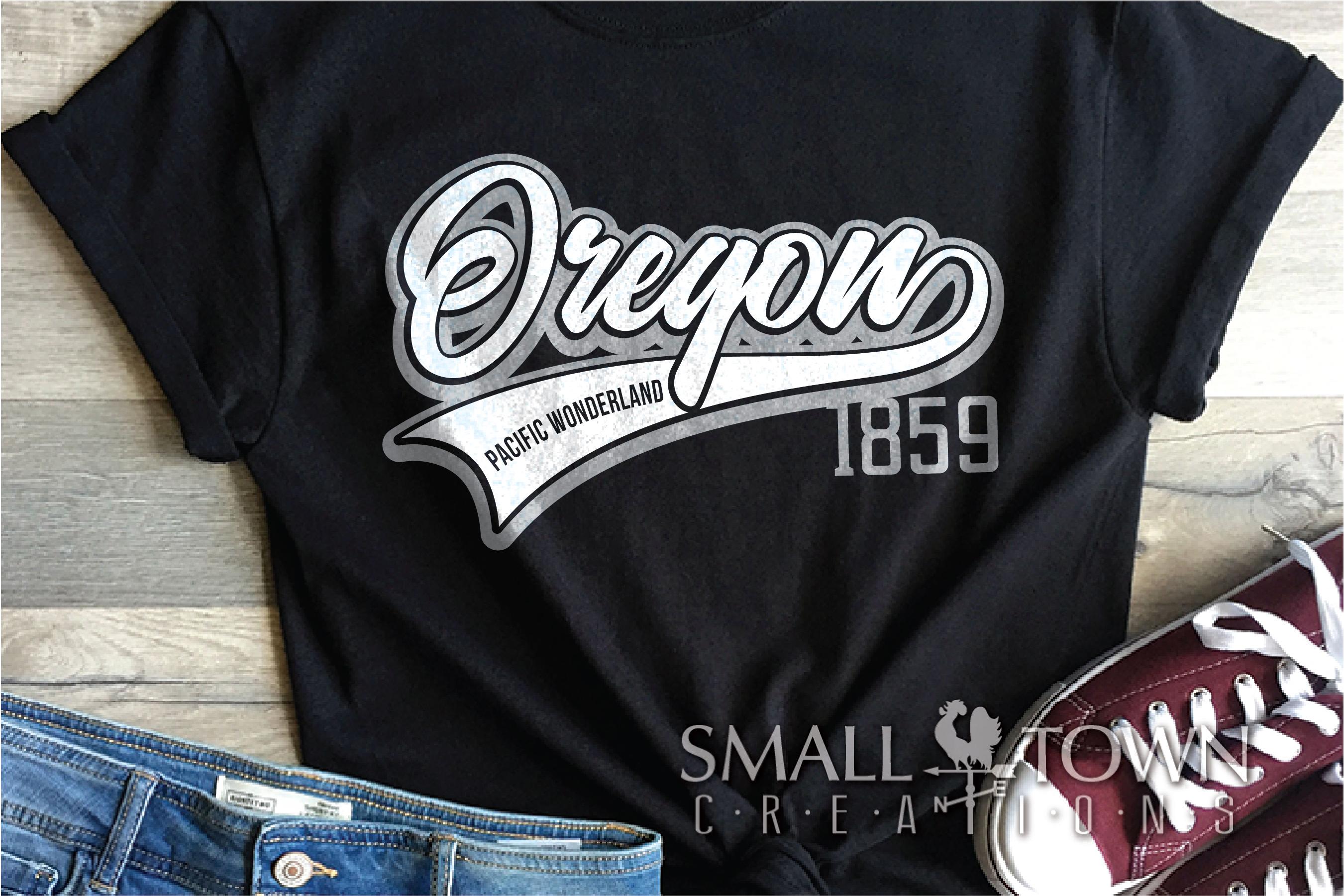 Oregon, Pacific Wonderland - slogan, PRINT, CUT & DESIGN example image 2