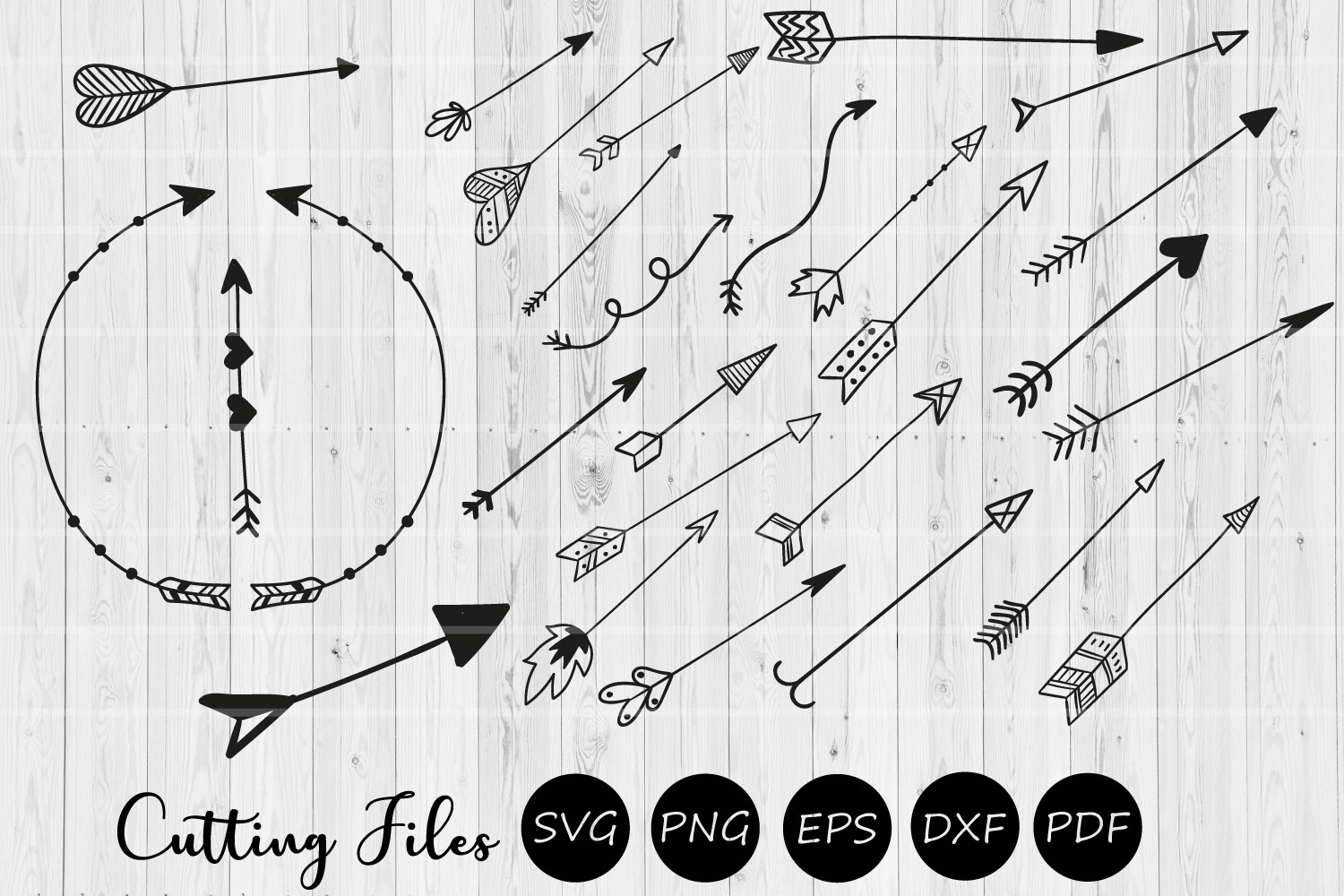 68 Arsty arrows humble bundle clipart | SVG Cut Files | example image 2