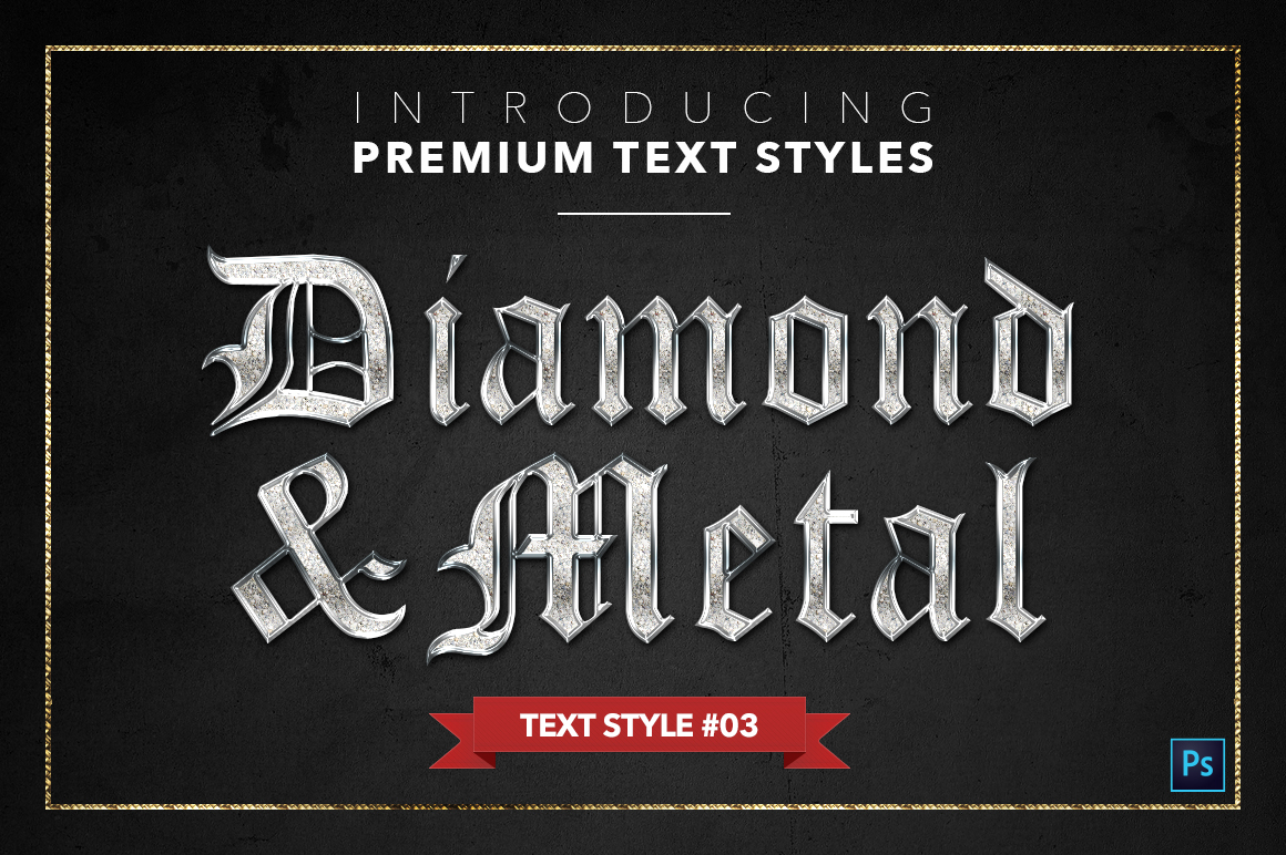 Diamond & Metal #1 - 15 Text Styles example image 4