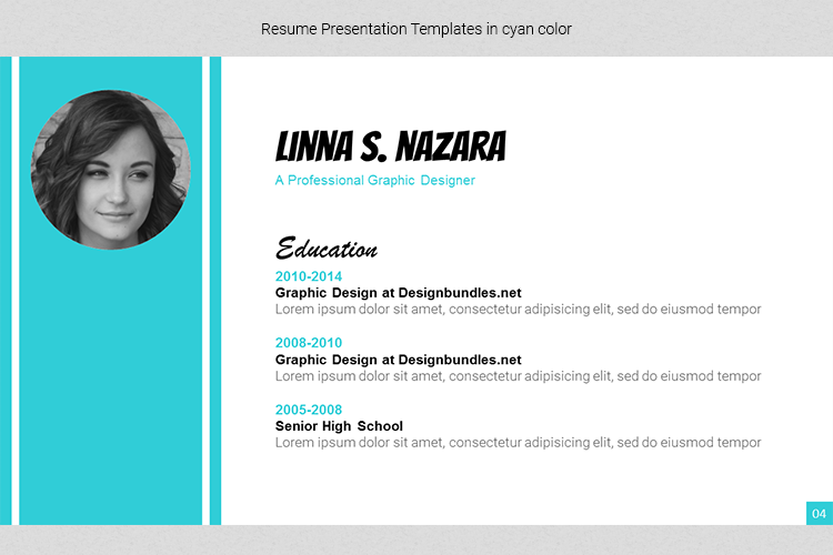 A4 Resume Templates Word example image 12
