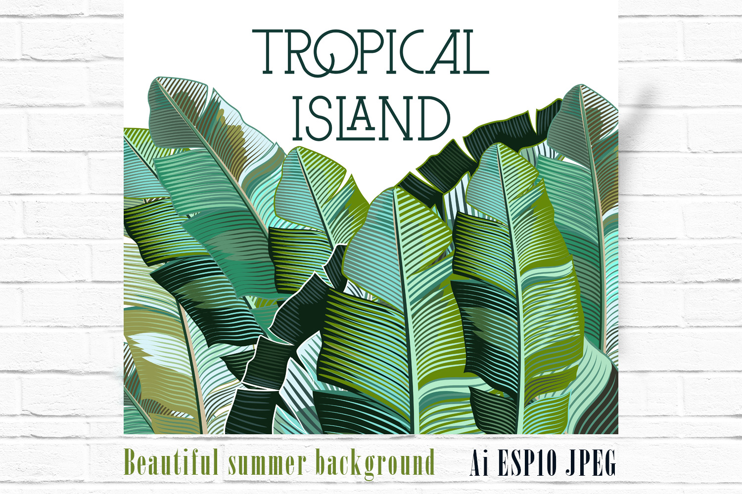 Palm leaf tropical background example image 1