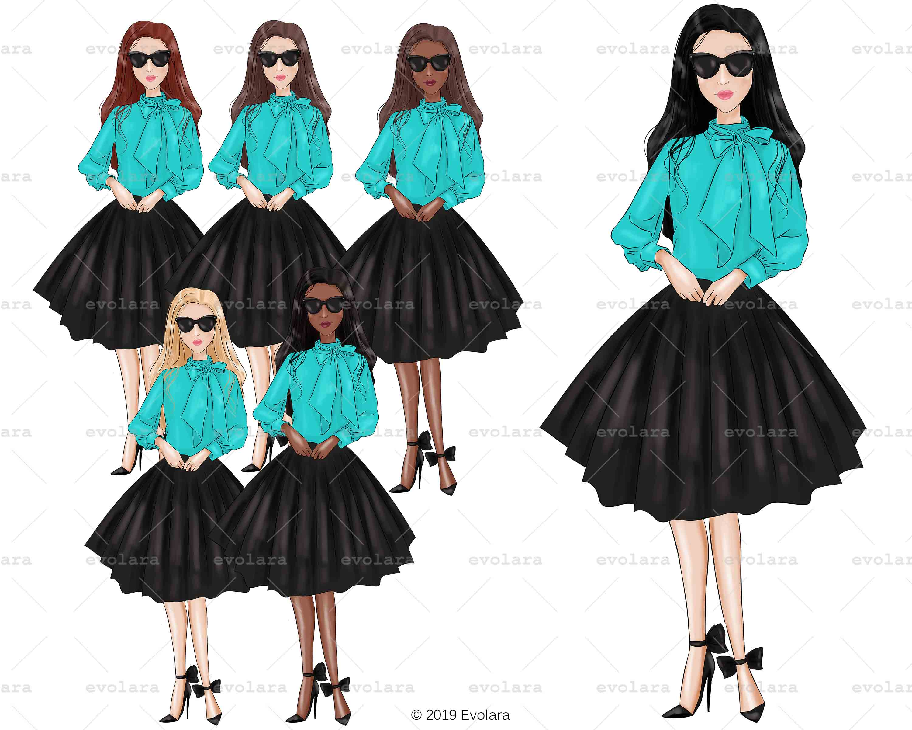 Blue Mint Clipart Fashion Illustrations Breakfast At Clipart example image 9