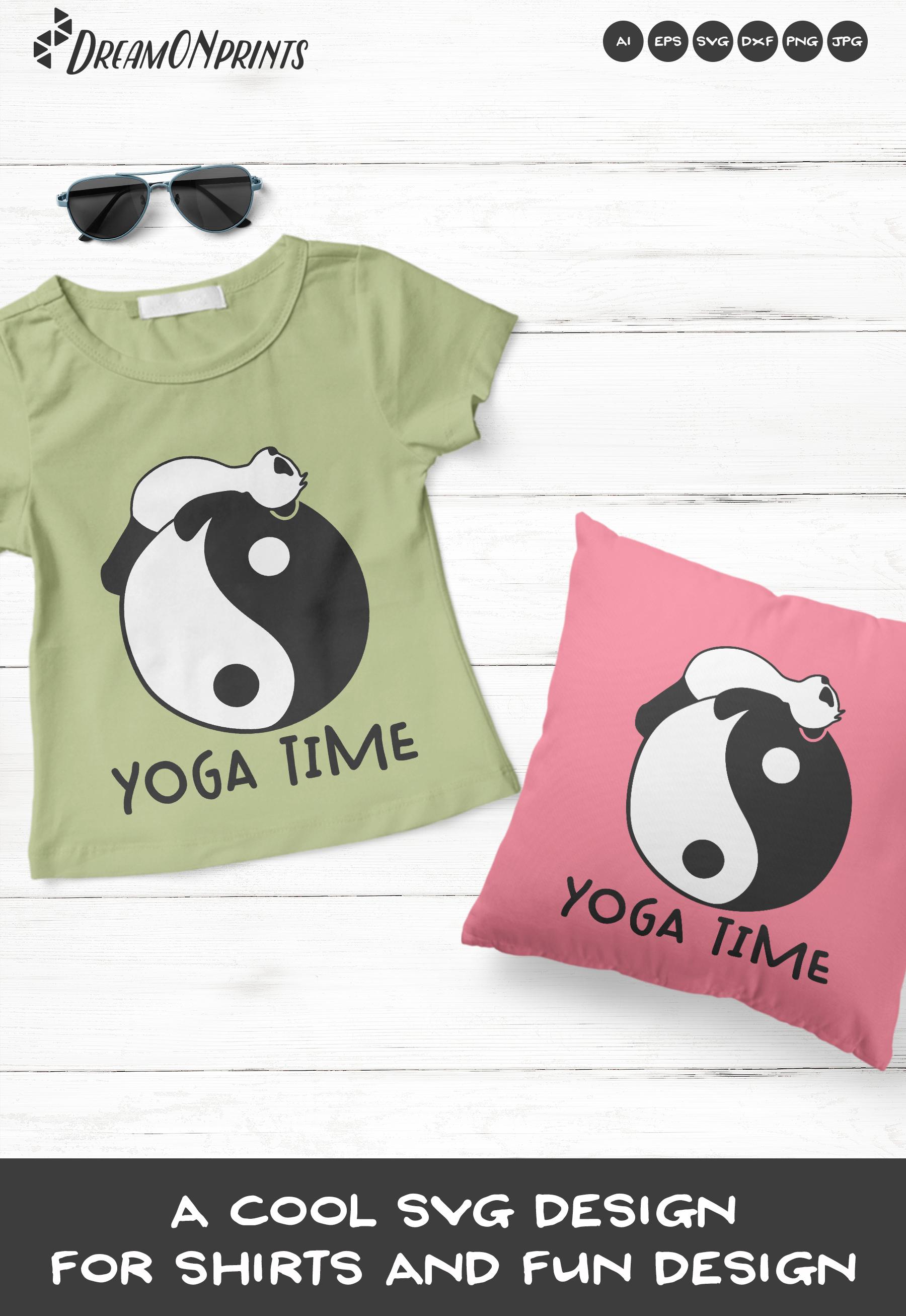 Funny Yoga Panda | Panda Bear SVG | Yoga Illustration example image 3
