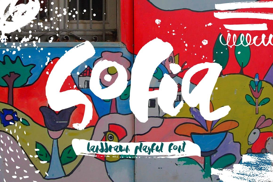Sofia - Handdrawn Playful Font example image 1