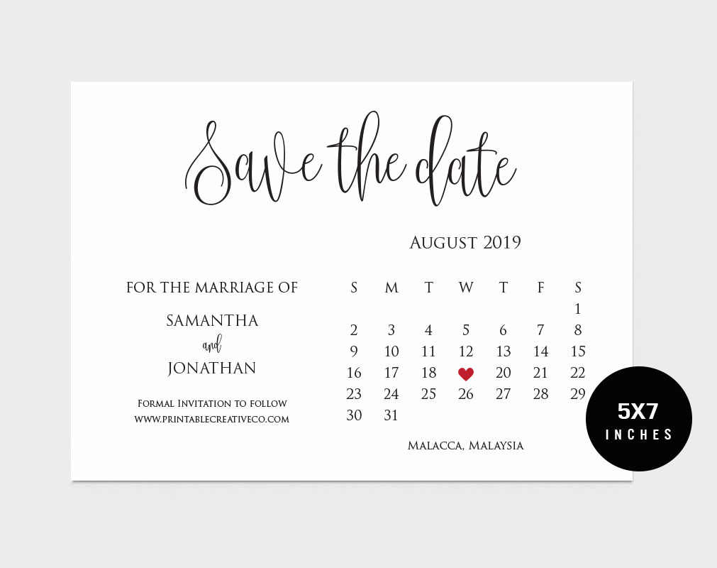 Save The Date example image 2