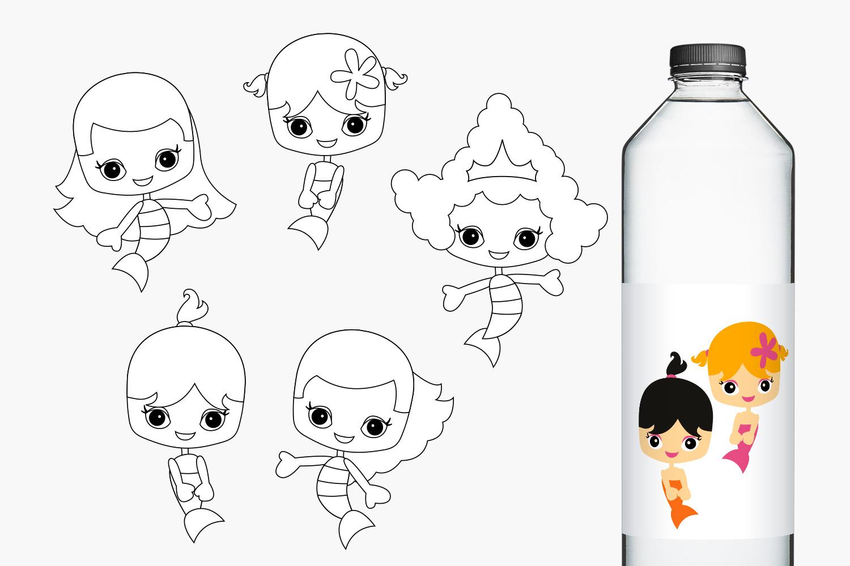 Mermaids Bundle - Kids illustrations example image 3