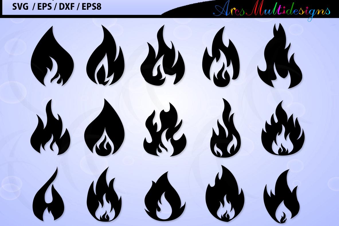 Fireflames Svg Vector Fire Flames Svg Silhouette Fire