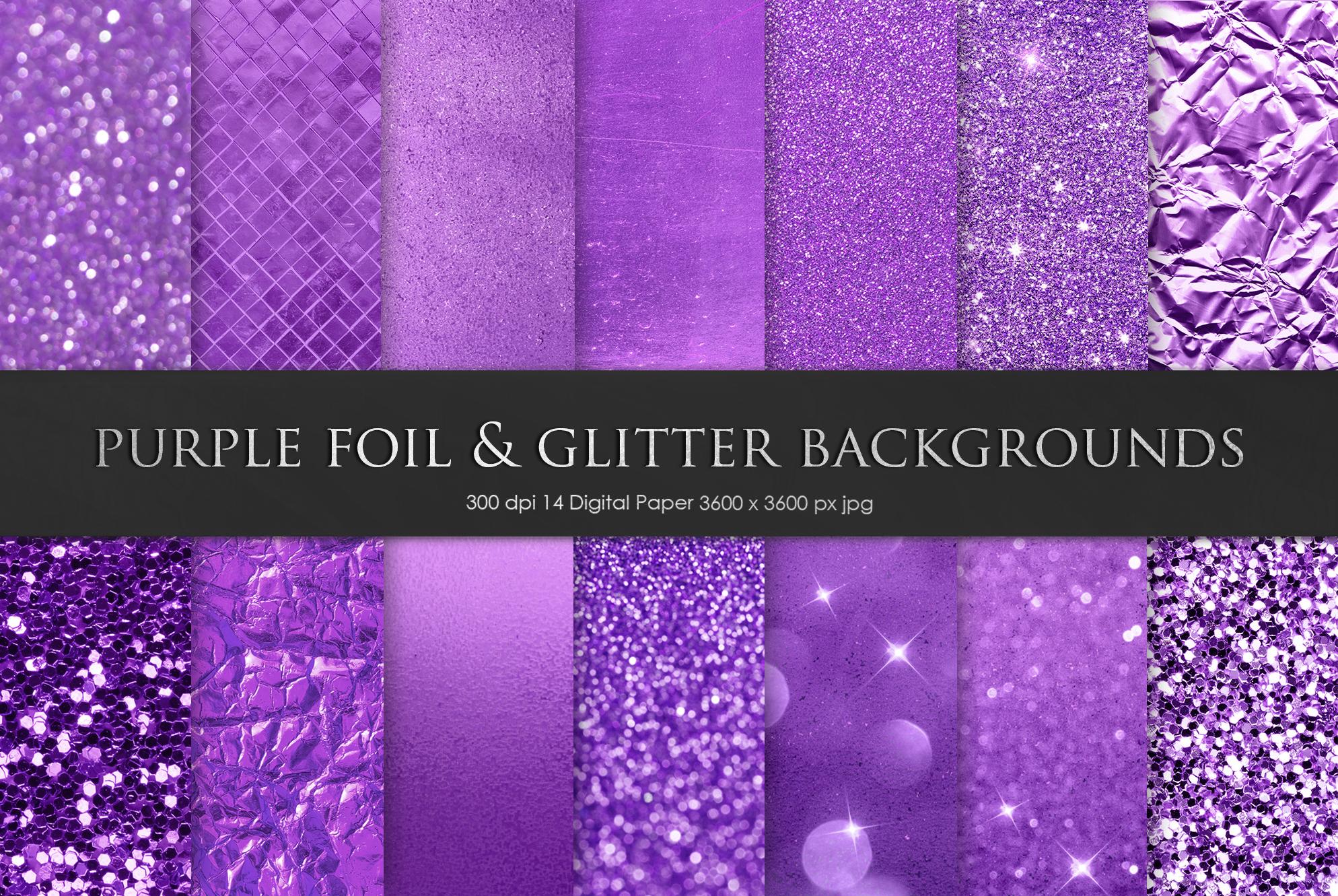 Purple Foil & Glitter Textures example image 1