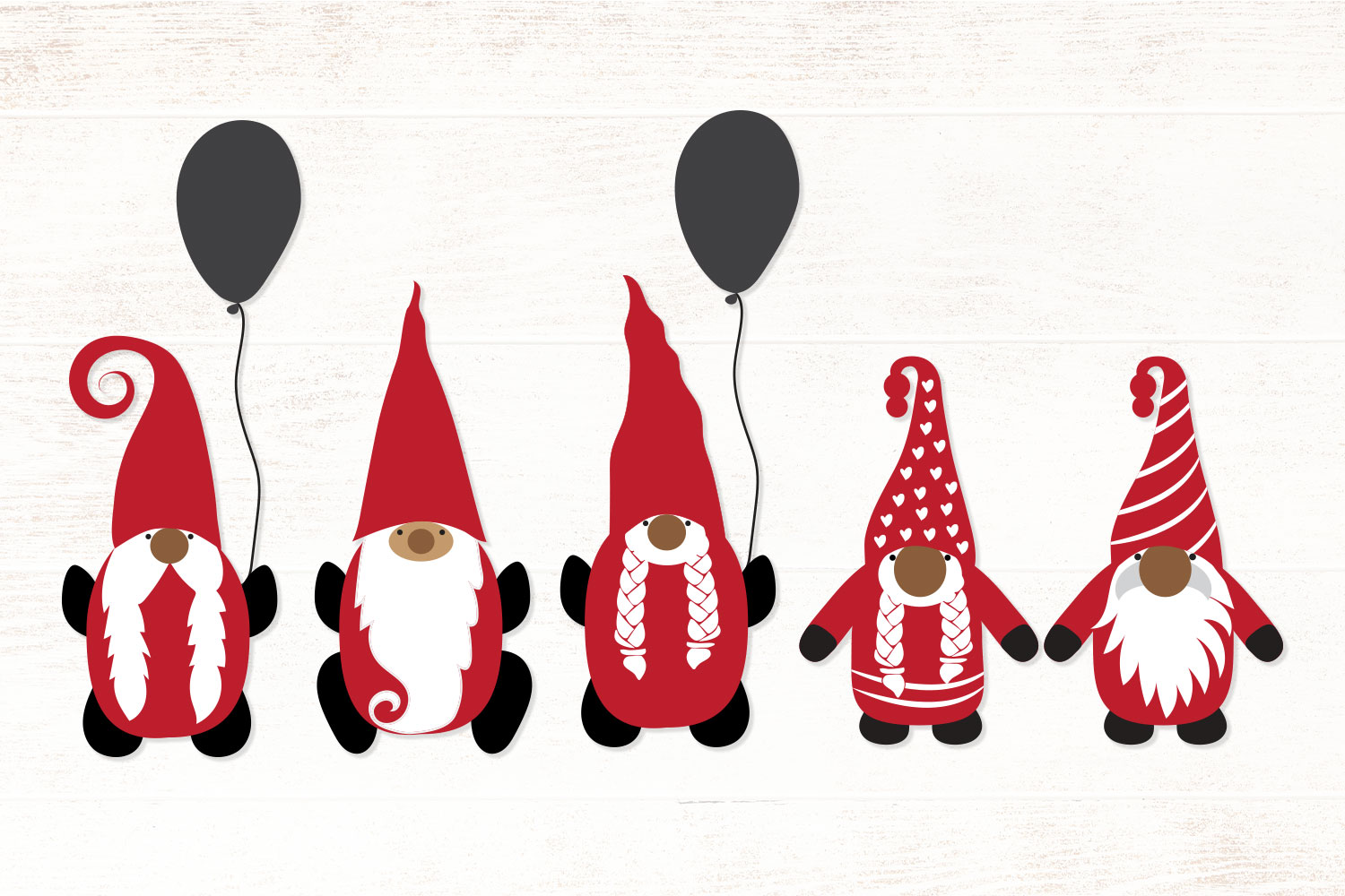 Christmas Gnomes SVG - Vector example image 2