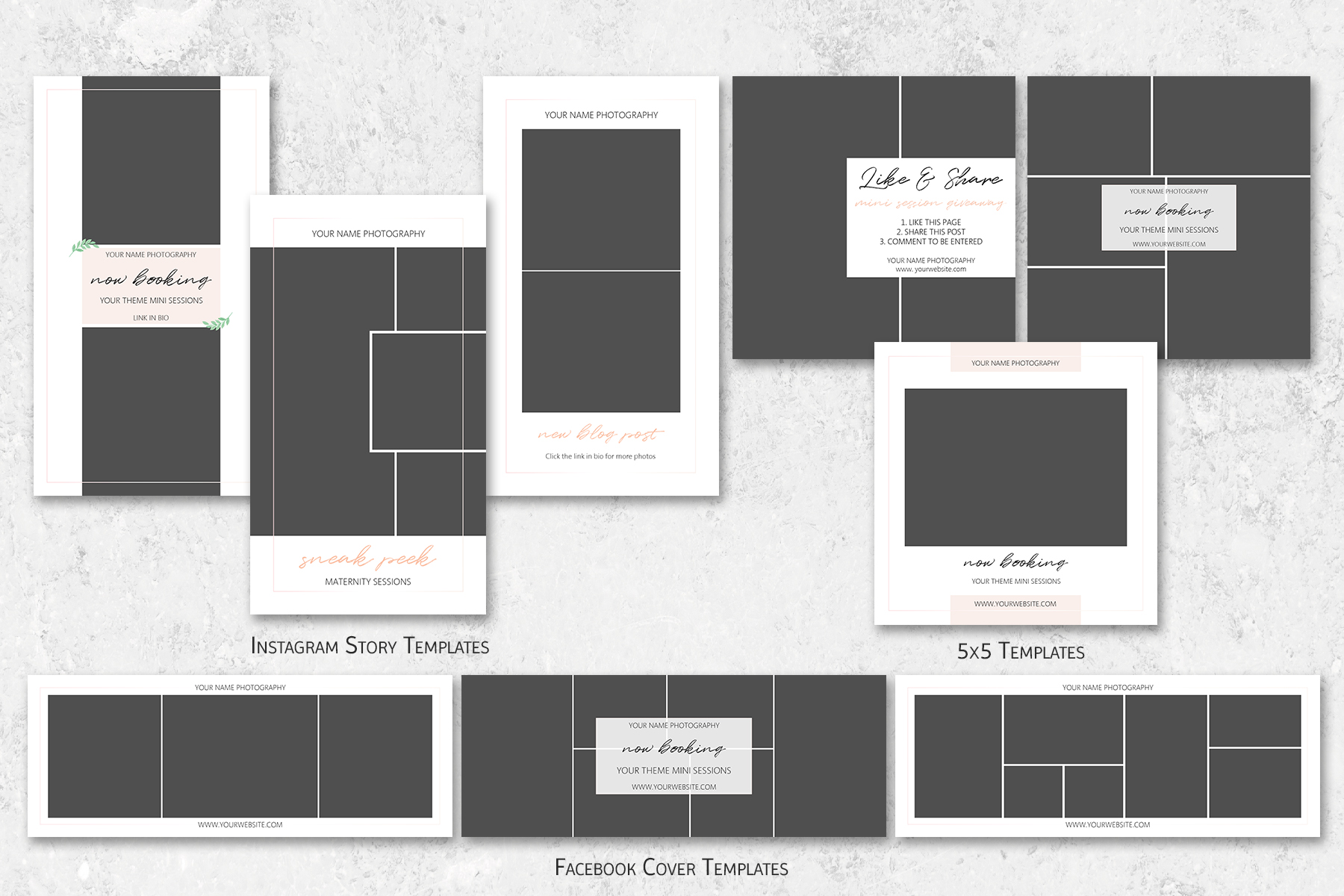 Social Media Marketing Templates for Photographers example image 2