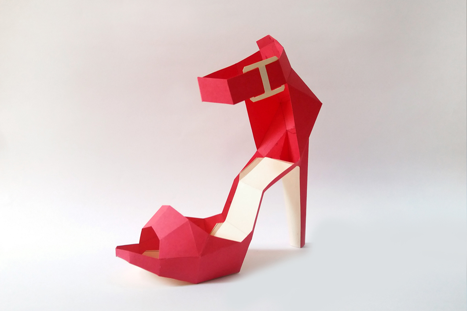 DIY High Heel Belly - 3d papercrafts example image 1