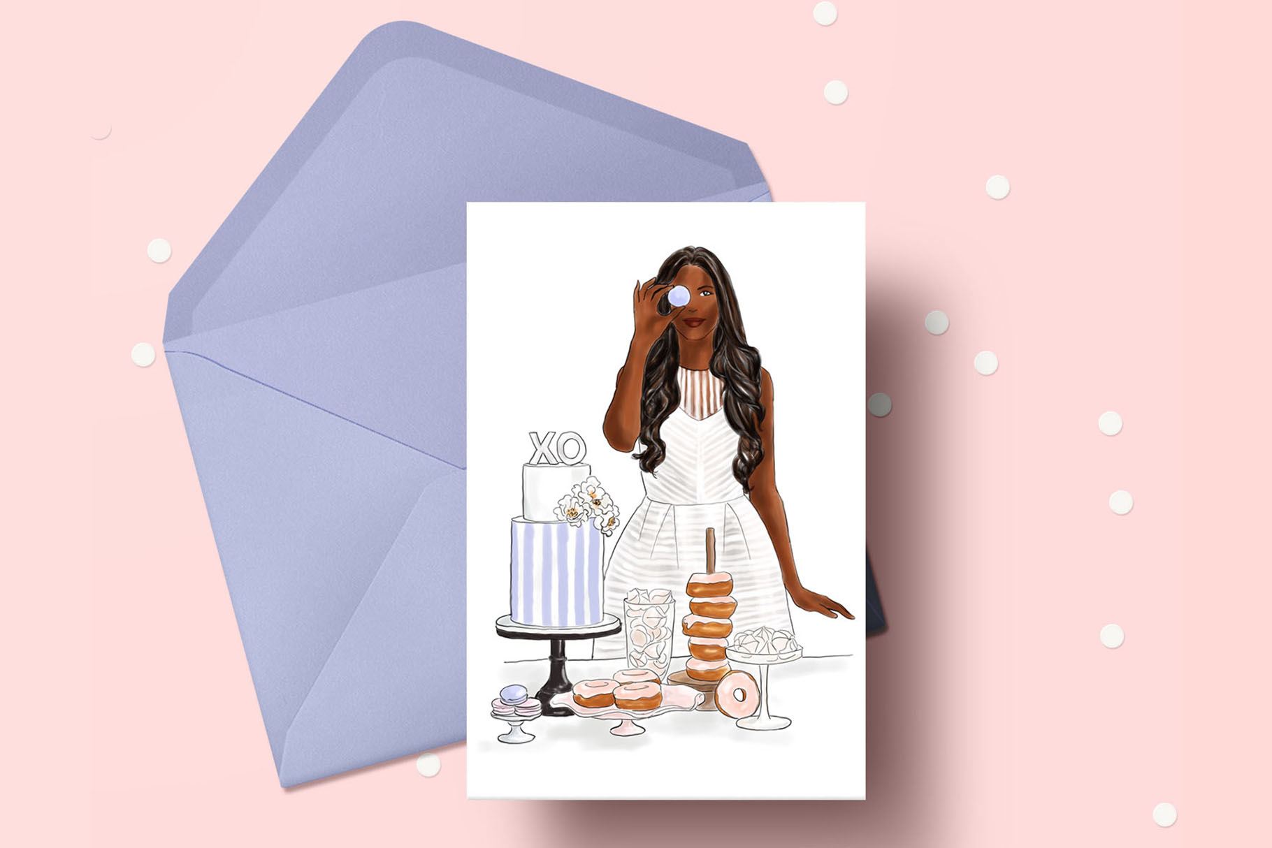 Fashion illustration - Baker Girl - Dark Skin example image 4