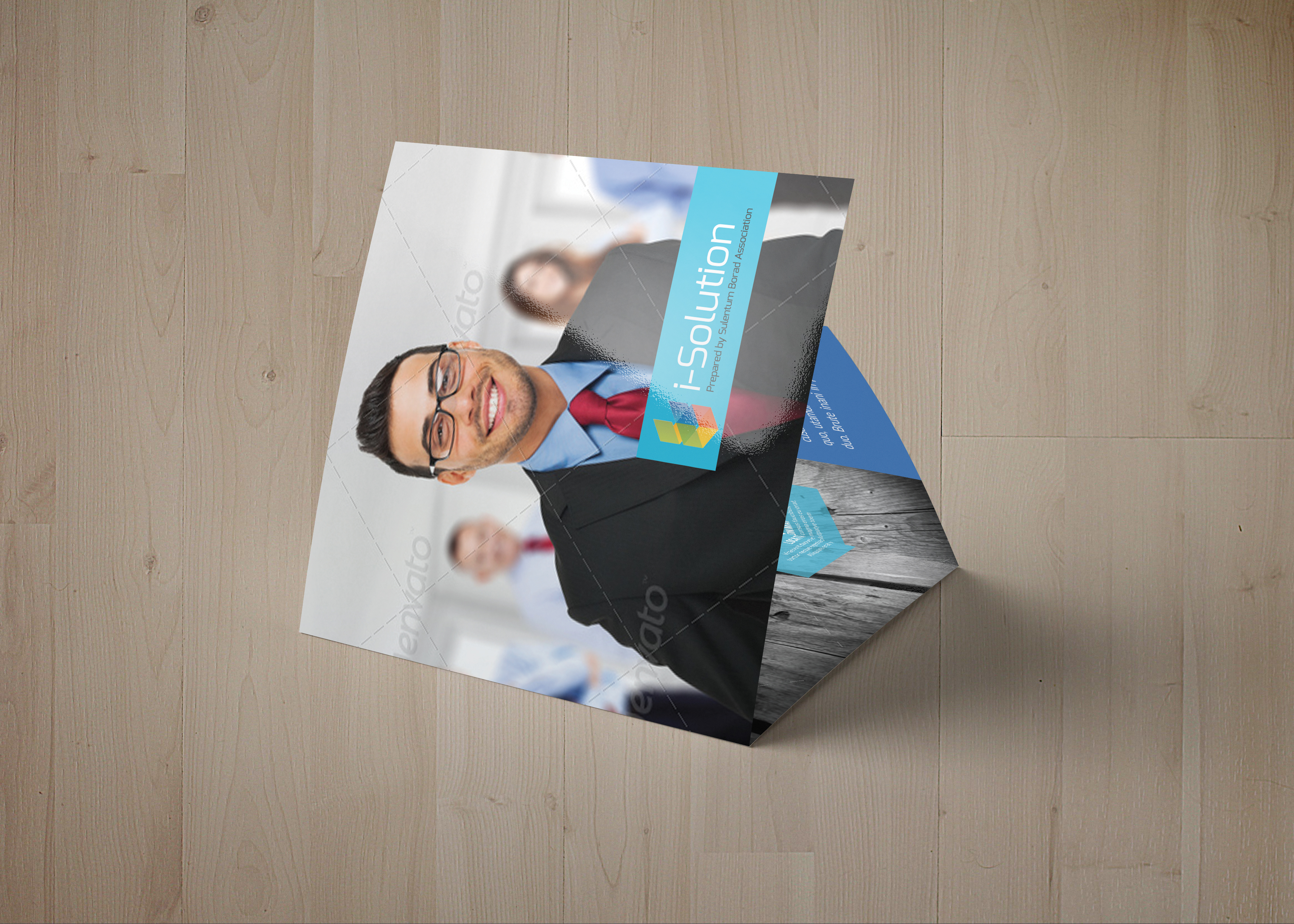 Business Management Square Trifold Brochure example image 6