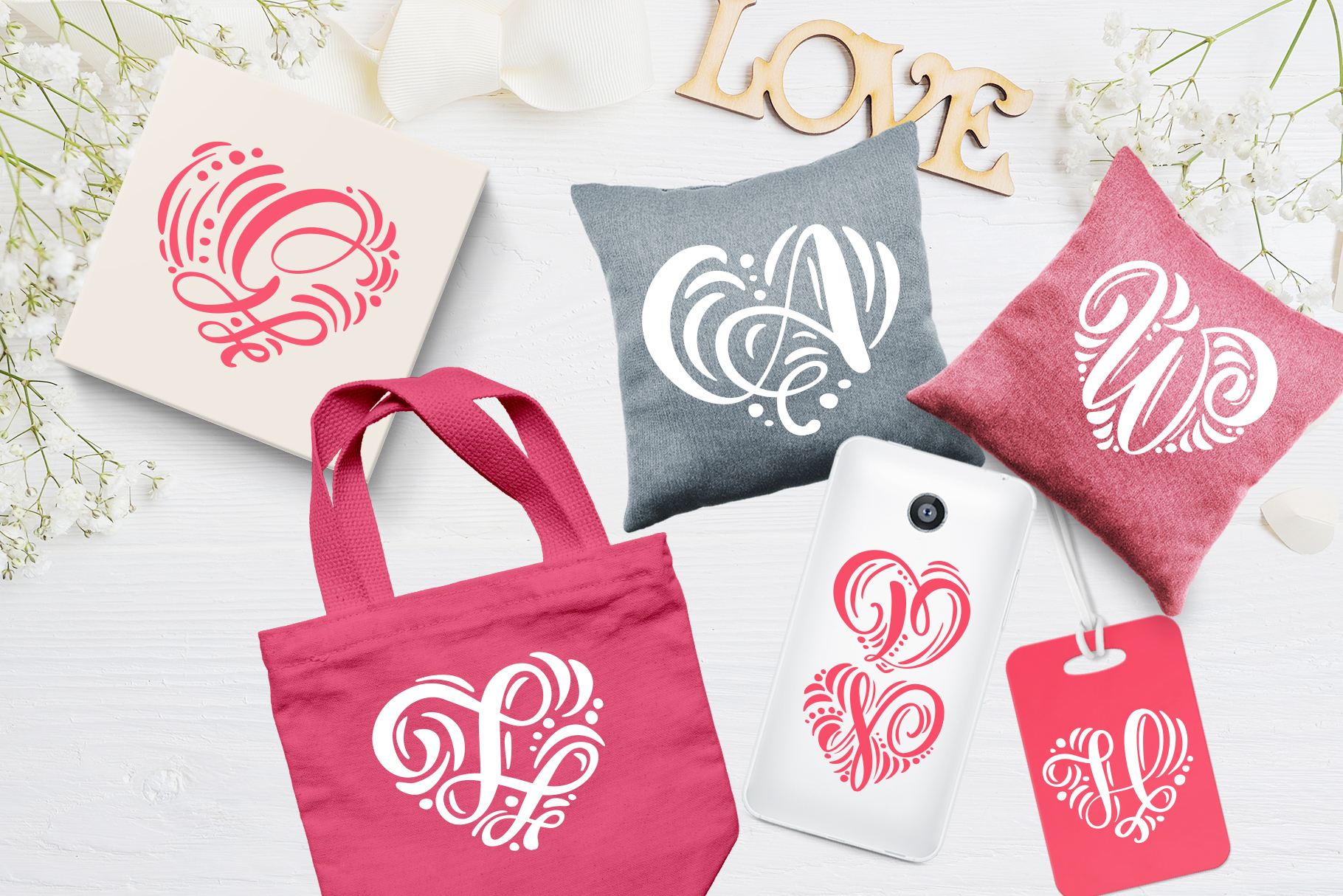 Monogram Valentine Font example image 2